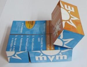 MVM hajtogatható bűvös kockák